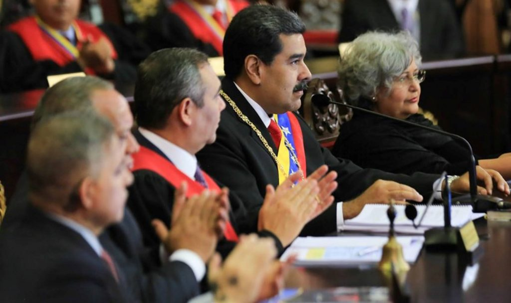 President Nicolas Maduro during a debate held last Friday at the Venezuelan parliament