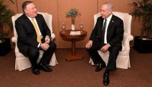 US Secretary of State Mike Pompeo meets with Prime Minister Benjamin Netanyahu in Brasilia on January 1, 2019