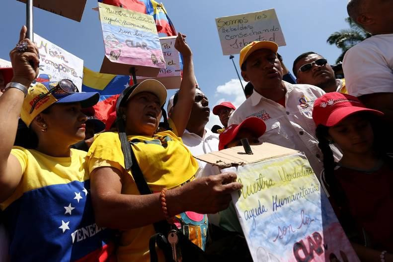 Demonstration in Caracas against the escalation of interference and blackmail by the US against Venezuela