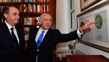 Bolsonaro and Netanyahu, last Monday, in Jerusalem