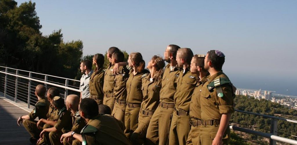 Soldiers of the IDF's Havatzelot training program for intelligence officers at the University of Haifa