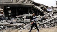Destruction in Gaza City, following Israeli air strikes this week, May 6, 2019