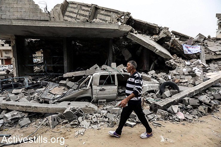 Destruction in Gaza City, following Israeli air strikes this week, May 6, 2019
