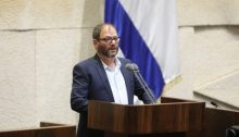 MK Ofer Cassif during the Knesset debate, last Monday, May 21