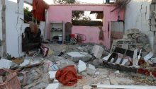 The destroyed home of the Al-Madhoun family in Beit Lahiya, the Gaza Strip