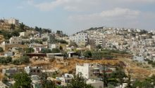 Wadi Yasul, a Palestinian neighborhood in occupied East Jerusalem, slated for demolition