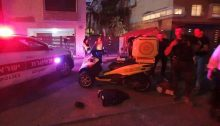The site of a fatal shooting in Kiryat Haim just north of Haifa on Sunday night, June 30