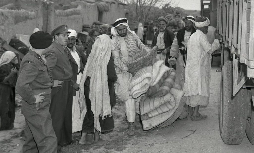 Ethnic cleansing after the guns fell silent, March 1949: The eviction of the residents of the village of Iraq al-Manshiyya, population 2,000, which had been within the borders of the Arab state defined by the 1947 UN Partition Plan of Palestine. This action took place weeks after Israel and Egypt signed their armistice agreement in Rhodes, Greece, under the auspices of the UN, setting the armistice line such that Iraq al-Manshiyya was on the Israeli side. The residents of the village were transferred to what would become known as the Gaza Strip. In 1954, Israel founded the development town of Kiryat Gat that included the site and adjacent agricultural fields of the erased Arab village, totaling some 1,350 hectares of land.