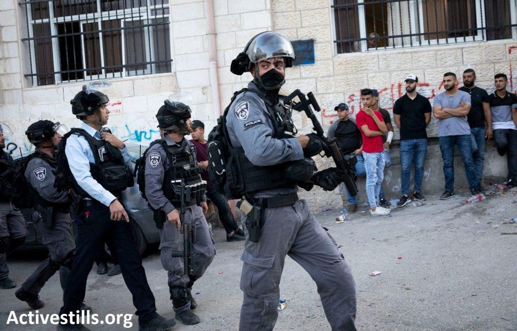 Israeli police forces in occupied East Jerusalem, July 2019