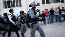 Israeli police forces in occupied East Jerusalem, July 2019