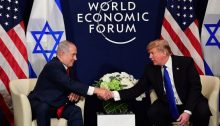 Netanyahu and Trump at the capitalist World Economic Forum summit in Switzerland