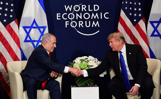 Netanyahu and Trump at the capitalist World Economic Forum summit in Switzerland