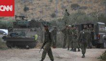 Israeli troops near the explosive Lebanese frontier this week