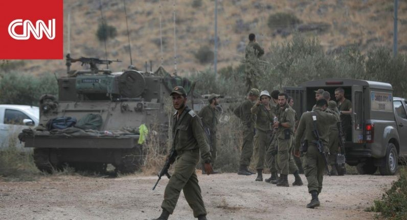 Israeli troops near the heated Lebanese frontier this week