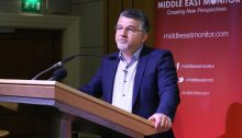 Hadash Knesset Member Yousef Jabareen at MEMO's conference in London on April 27, 2019