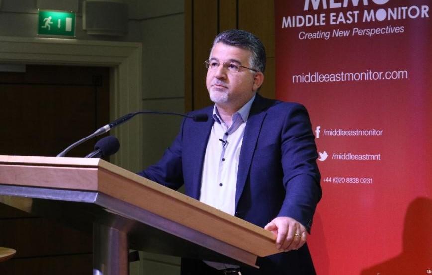 Hadash Knesset Member Yousef Jabareen at MEMO's conference in London on April 27, 2019