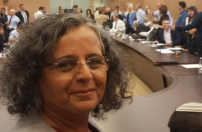 MK Aida Touma-Sliman (Hadash) on Monday, September 9, after the adjournment of the meeting of the Knesset Regulatory committee
