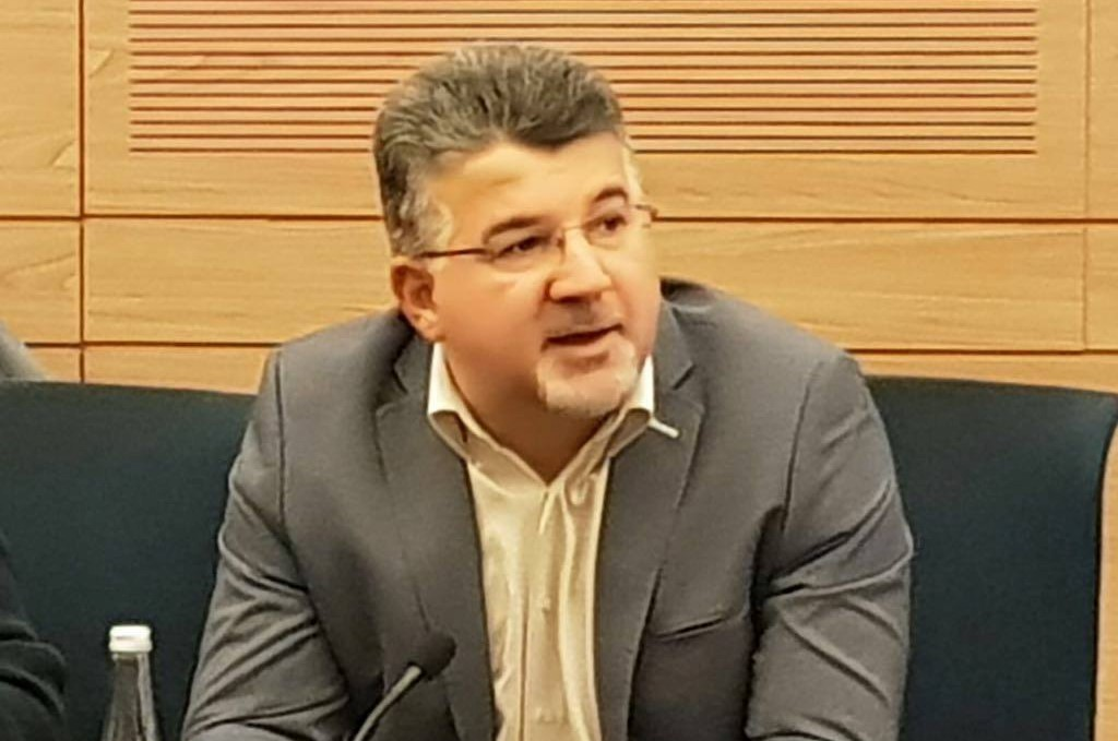 Hadash MK Yousef Jabareen in the Knesset