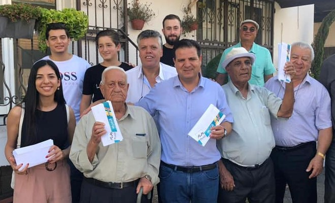 MK Ayman Odeh, last Sunday, September 15, two days before the election with supporters of the Joint List in the Arab village of Eilaboun