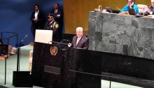 Palestinian President Mahmoud Abbas, on Thursday, September 26, speaking before the 74th session of the United Nations General Assembly in New York