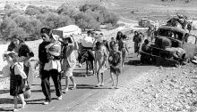 Palestinians uprooted from their homes during the Nakba