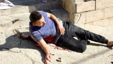 Seemingly stunned and in disbelief, a mortally wounded Omar Haitham al-Badawi wallows in his own blood just after being hit by Israeli gunfire in the Al-'Arrub refugee camp on Monday, November 11, 2019. The 22-year-old al-Badawi died shortly afterwards in hospital in Hebron.