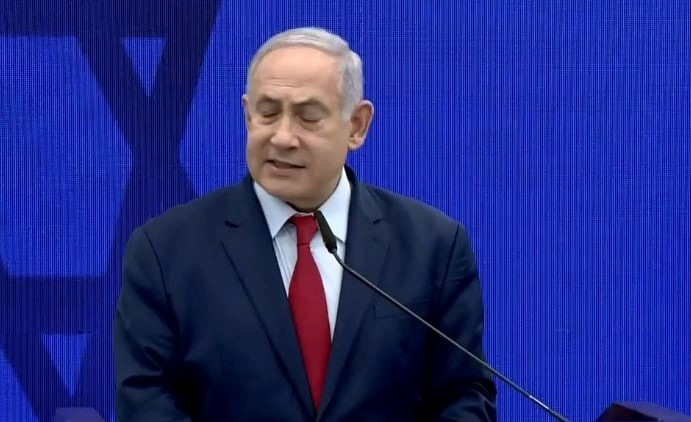 PM Benjamin Netanyahu during the last election campaign