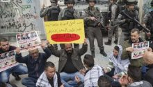 Relatives of Palestinians whose bodies are being held by Israel demonstrate for their release.