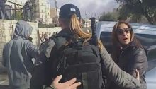 Israel police forces detain a television crew from Palestine TV in occupied East Jerusalem, Friday, December 6.