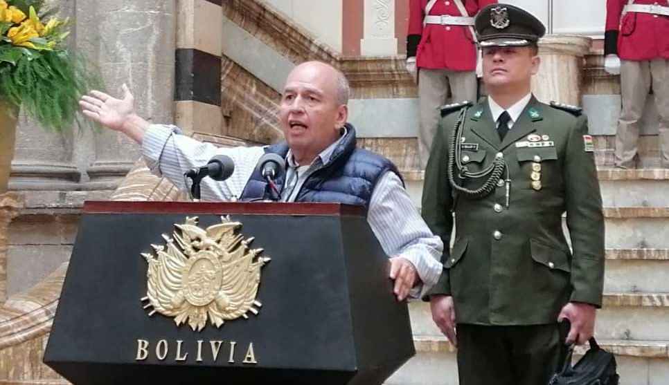 The interim interior minister of Bolivia, the far-right Senator Arturo Murillo