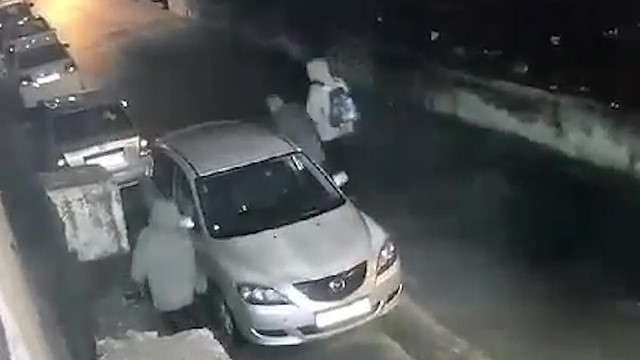 Far-right assailants as recorded by a security camera in Shu'afat, Monday December 9