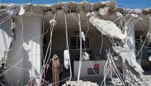 Partial demolition by Israel authorities of the Jaradat family house, al-Tur, occupied East Jerusalem, April 24, 2013