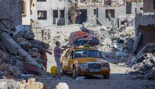 Beit Hanoun in Gaza after an Israeli air strike, August 12, 2014
