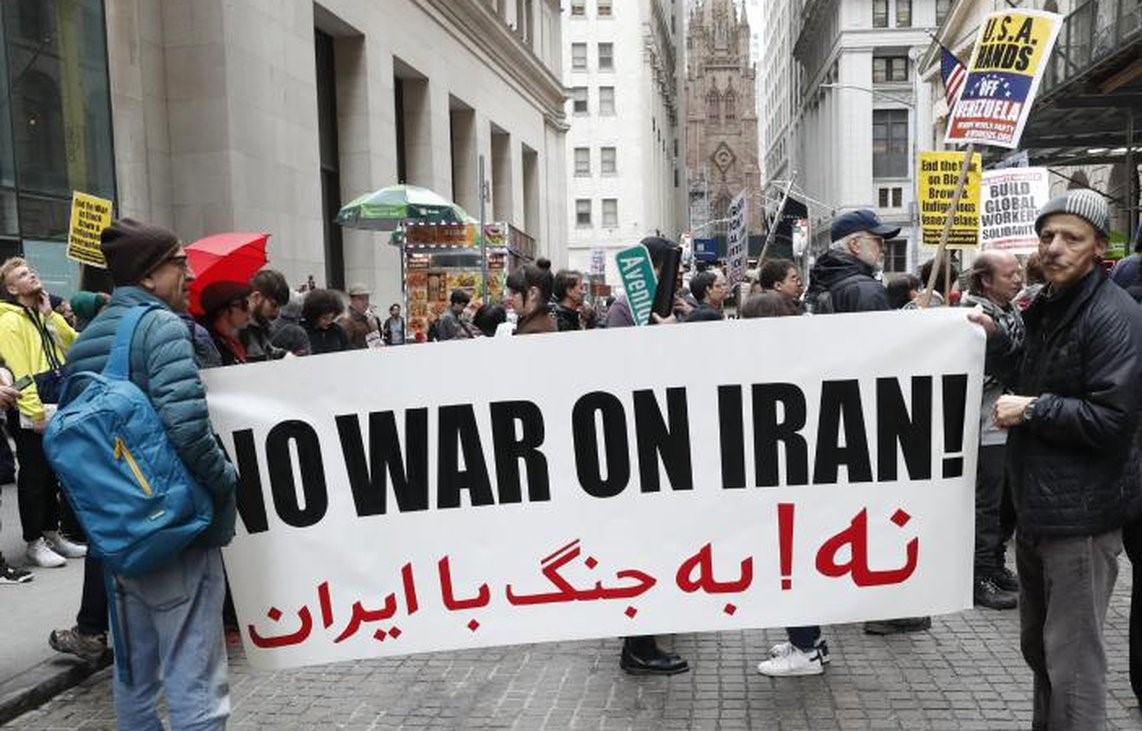 In a demonstration in New York against US war on Iran, the demand is loud and clear.