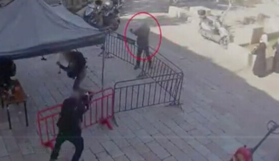 Shadi Bana opens fire on Border Policemen in Jerusalem, Thursday, February 6, 2020. The fleeing assailant was shot dead by police moments later.