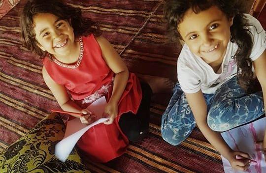 Arab-Bedouin schoolchildren in the Negev
