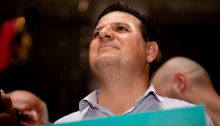 MK Ayman Odeh during an election campaign rally held in Tel Aviv