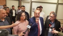 Joint List MKs Mansour Abbas, Aida Touma-Sliman, Ahmad Tibi and Mtanes Shihadeh, in the Knesset on Wednesday, March 11, 2020.