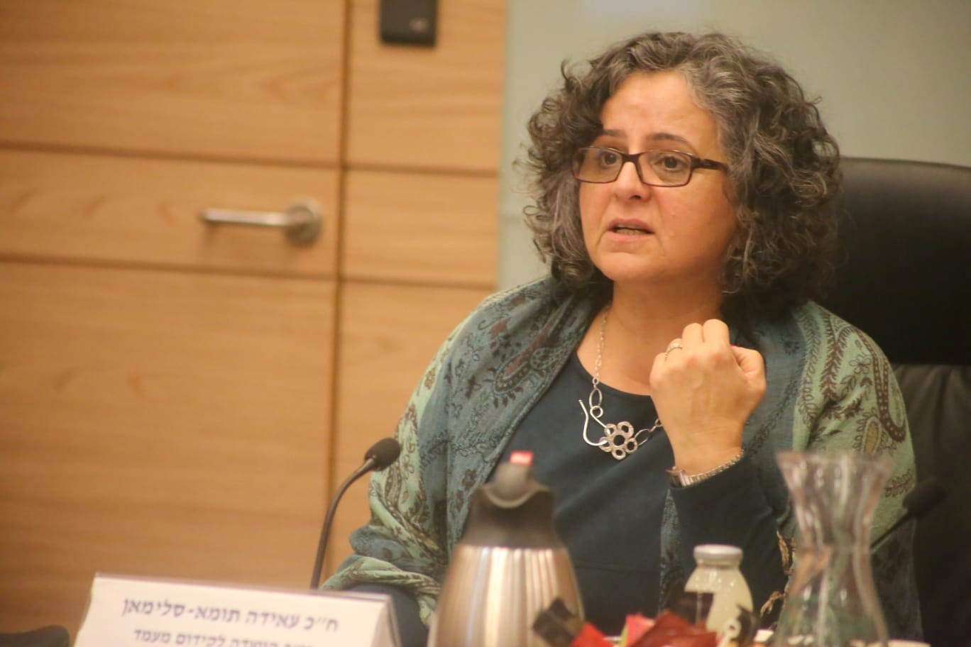 Hadash MK Aida Touma-Sliman, former head the Knesset's Committee on the Status of Women and Gender Equality, will now chair the Special Committee for Labor and Welfare.