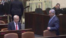 Gantz and Netanyahu, Thursday evening, in the Knesset plenum