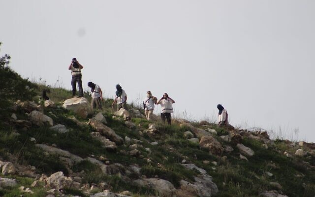 "Armed and masked settlers descend from a northern West Bank hilltop where the dismantled settlement of Homesh had been located until 2005. The hooligans hurled stones at Palestinian residents of the nearby village of Burqa. A police report was filed, but a law enforcement spokeswoman said she ""was unaware of the incident."""