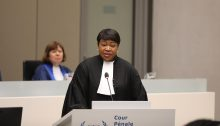 Chief Prosecutor of the International Criminal Court, Fatou Bensouda, during the opening of the court's judicial year at The Hague, January 23, 2020