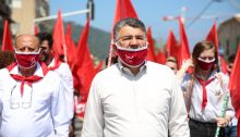 MK Youssef Jabareen (Hadash – Joint List) during the May Day rally held on Friday, May 1, in Haifa