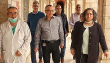 MK Aida Touma-Sliman (Hadash-Joint List), who heads up the Knesset's Social and Labor Affairs Committee, during a tour of hospitals in Nazareth
