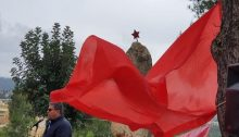Communist Party of Israel General Secretary, Adel Amer, during the Victory Day Celebration in the Red Army Forest near Jerusalem, May 9, 2020