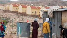 An Israeli settlement in the South Hebron Hills