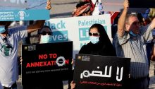 Israelis and Palestinians marched against annexation and occupation last Saturday evening, June 27, near Jericho.