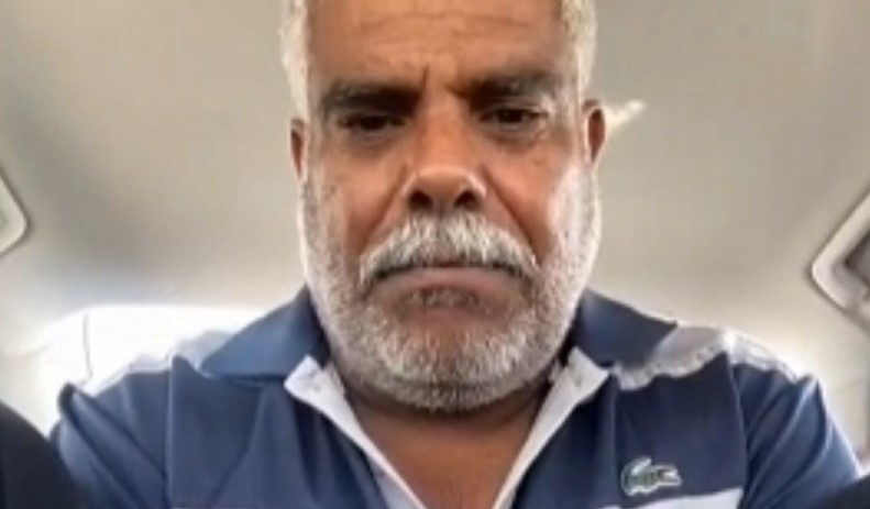 Salim al-Dantiri, an Arab-Bedouin citizen from the village of Bir Hadaj in the Negev, addresses the Knesset Internal Affairs committee via a video conference held last week.