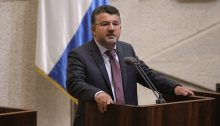 Hadash MK Youssef Jabareen addressing the Knesset plenum