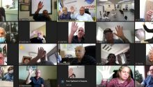 The Histadrut leadership approves the declaration of a general labor dispute, last Sunday, November 8, via a Zoom meeting.